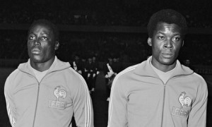 Jean-Pierre Adams, left, and Marius Tresor while representing France. Photograph: Universal/ Universal/TempSport/Corbis