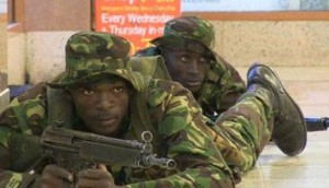 Kenyan troops in position inside the Westgate mall in Nairobi on September 21, 2013. PHOTO | AFP