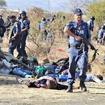 South Africa  Police and Miners