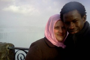 Sarah Mallette and Muhammed Sillah. Sillah has been locked up for nine months in the Central East Correctional Centre in Lindsay, Ont.