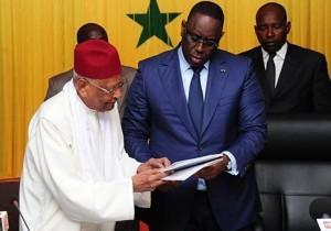 Mahktar Mbow, CNRI, and Macky Sall, President of Senegal