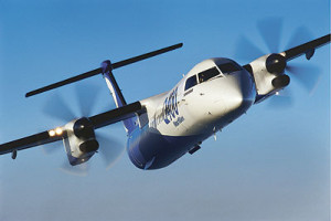 The national carrier has acquired a dual class Q400 NextGen turboprop aircraft like this one. Net photo.
