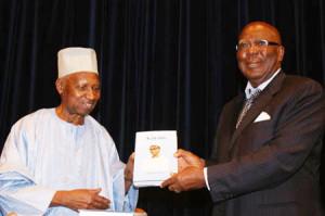 Former Gambian President Sir Dawda Jawara and Former President  Ahmed Teja Kabbah
