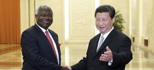 President Ernest Bai Koroma with President Xi Jinping of China