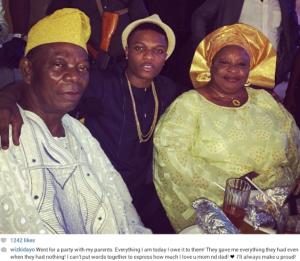 Nigerian Music Star Wizkid & Parents