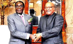 President Mugabe and  President Zuma