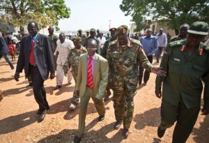 South Sudan's current Vice-President James Wani Igga, centre left. Photo: AP