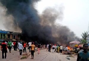 nigeria bombs fire