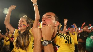 Colombia supporters celebrate. © Getty Images